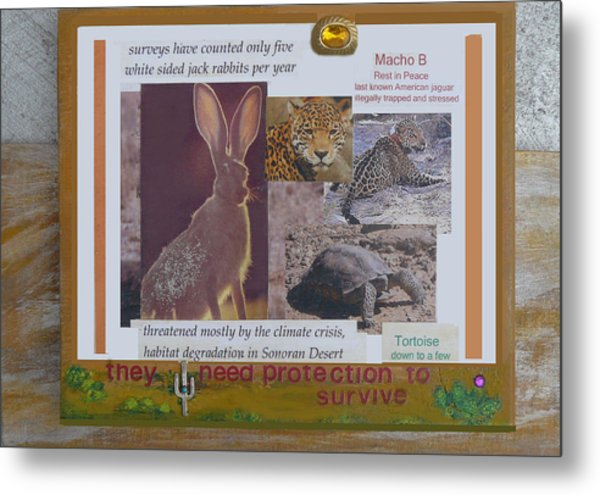 They Need Protection To Survive Metal Print by Mary Ann  Leitch