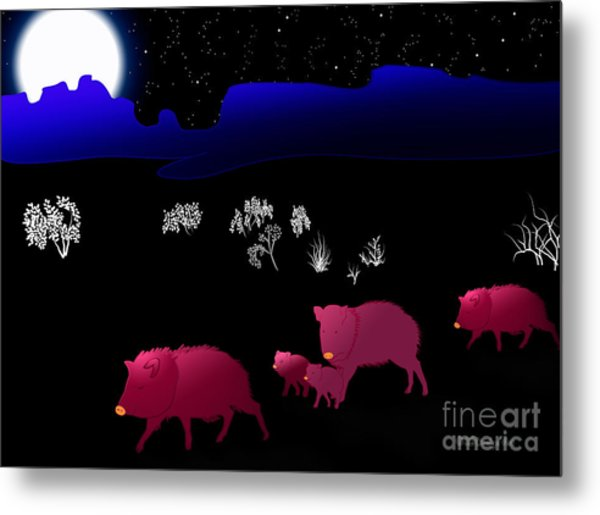 They Walk By Night Metal Print