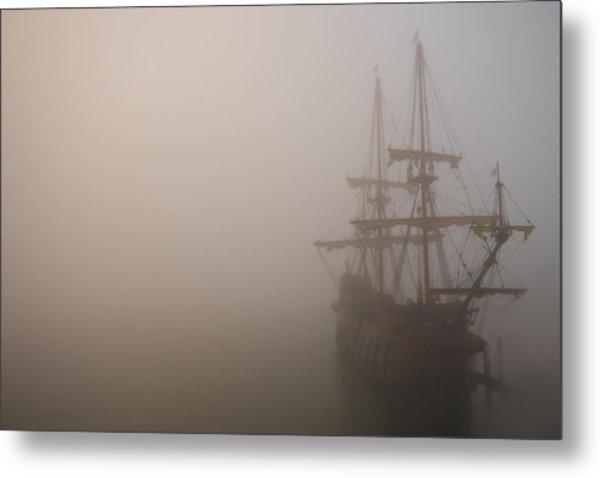 Thick Fog Blankets El Galeon  Metal Print