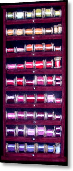 Thimbles In Cabinet Metal Print