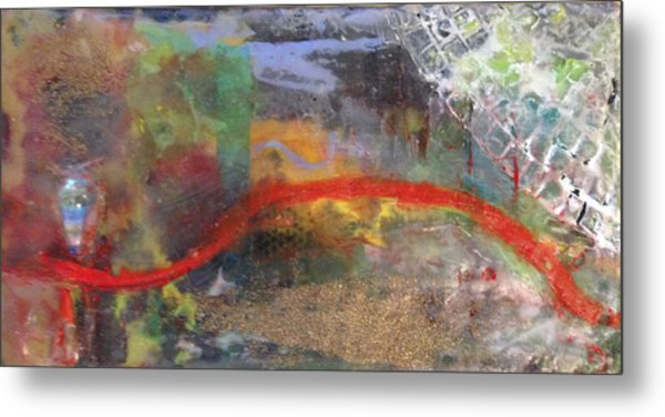 Thin Red Line #2 Metal Print