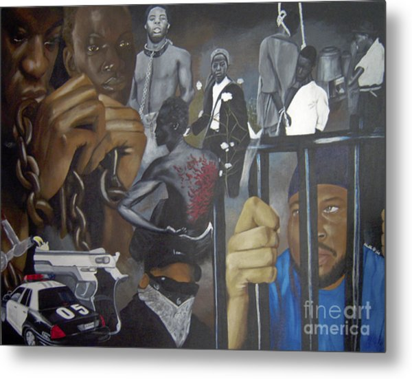 Think Black Man Metal Print