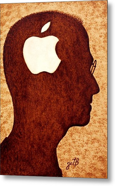 Think Different Tribute To Steve Jobs Metal Print