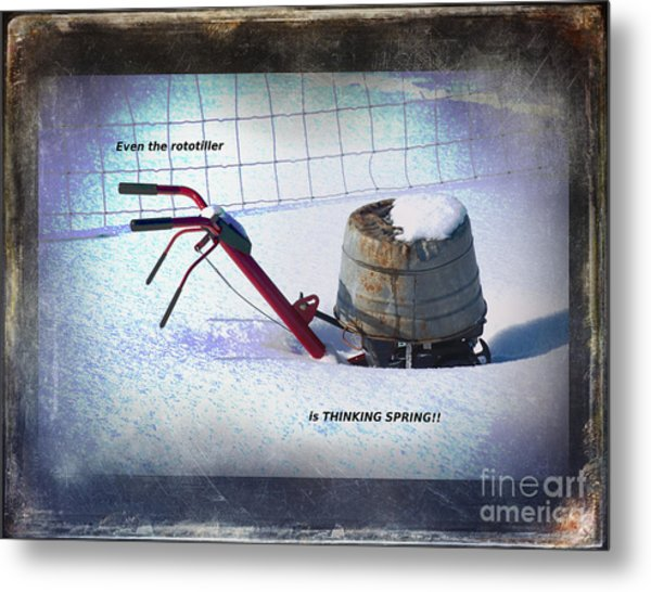 Thinking Spring Metal Print by The Stone Age