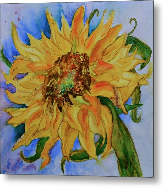 This Here Sunflower Metal Print