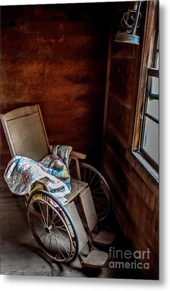 Wheelchair With A View Metal Print
