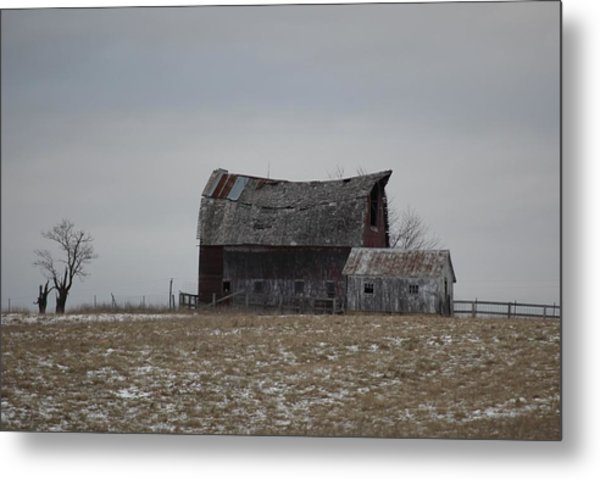 Thomas Hill Barn Metal Print