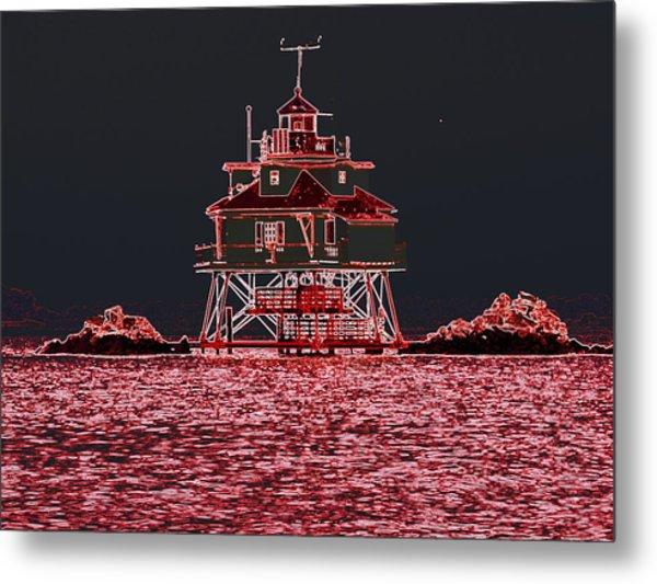 Thomas Point Light House Metal Print