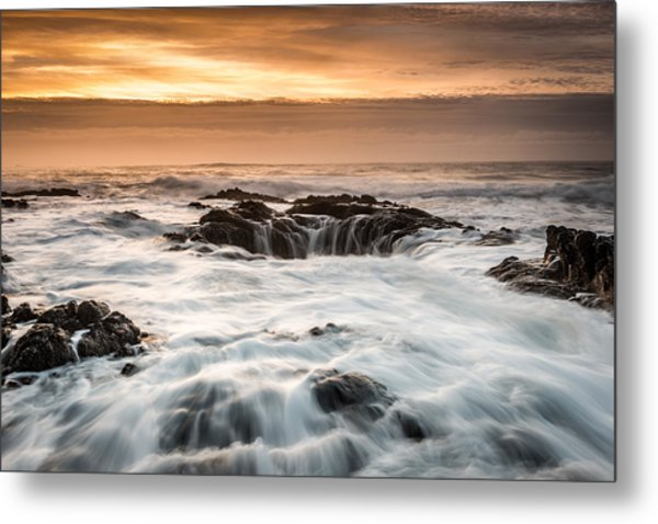 Thor's Well Metal Print by Mike  Walker