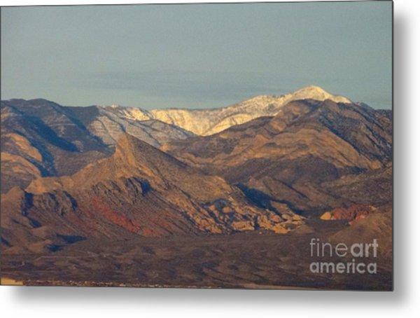 Those Beautiful Snow Cap Mountains Of Nv Metal Print