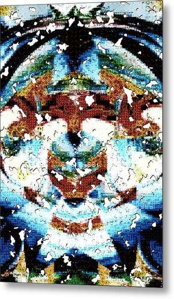 Those Darn Moths Mosaic Metal Print
