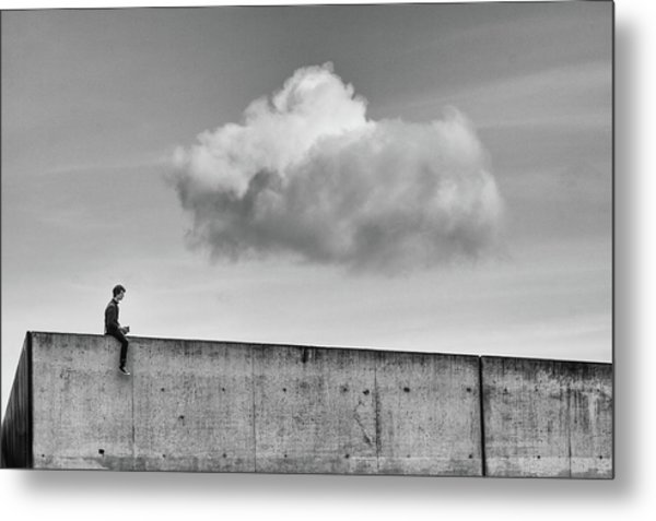 Thoughts In The Cloud Metal Print