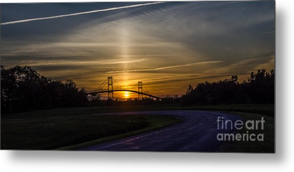 Thousand Islands Bridge At Sunset Metal Print
