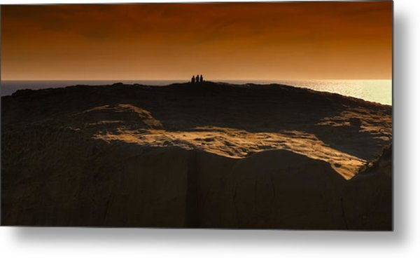 Three At Sunset Metal Print