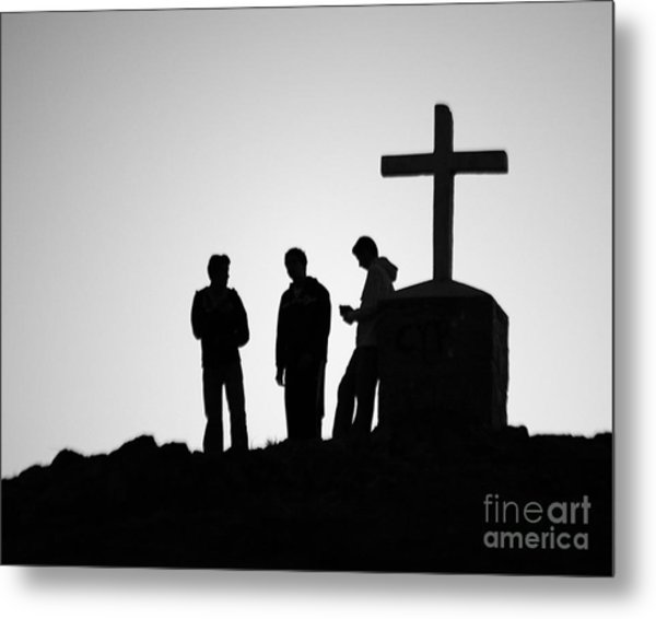 Three At The Cross Metal Print