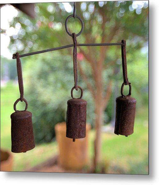 Three Bells - Square Metal Print
