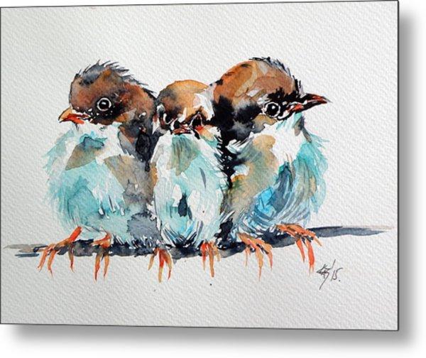 Three Birds Metal Print