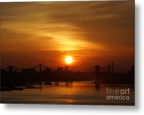 Three Bridges At Sunrise Metal Print