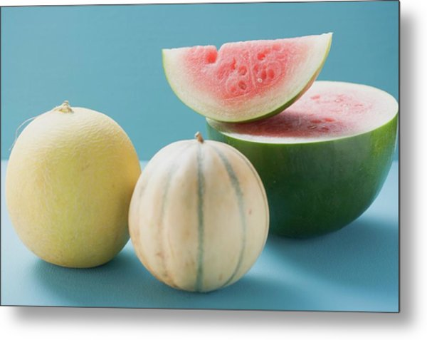 Three Different Melons Metal Print
