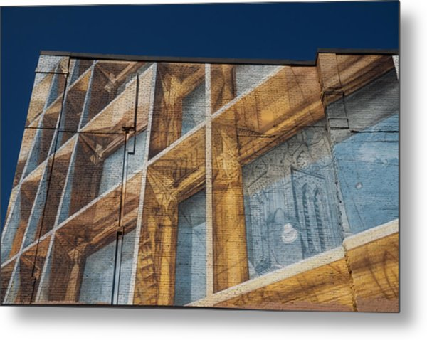 Three Dimensional Optical Illusions - Trompe L'oeil On A Brick Wall Metal Print