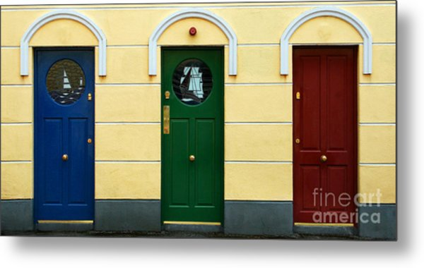 Three Doors Metal Print