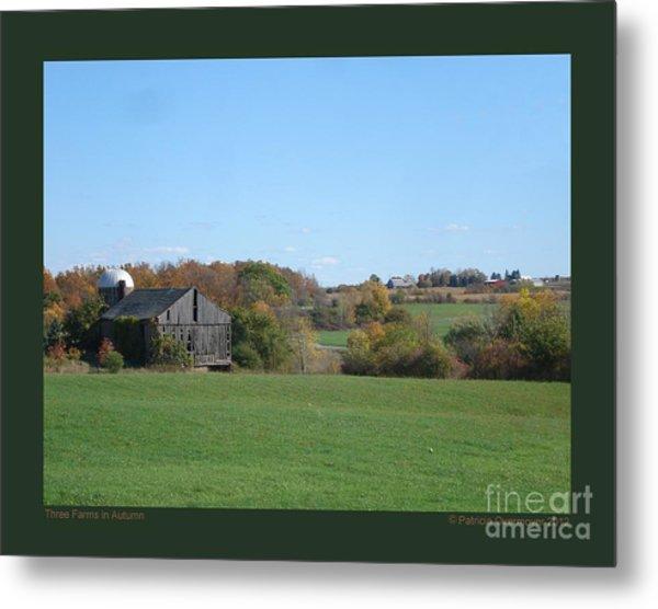 Three Farms In Autumn Metal Print