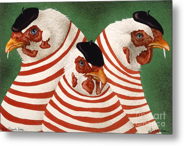Three French Hens... Metal Print
