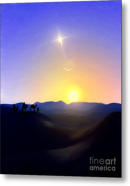 Three Kings Comet Metal Print