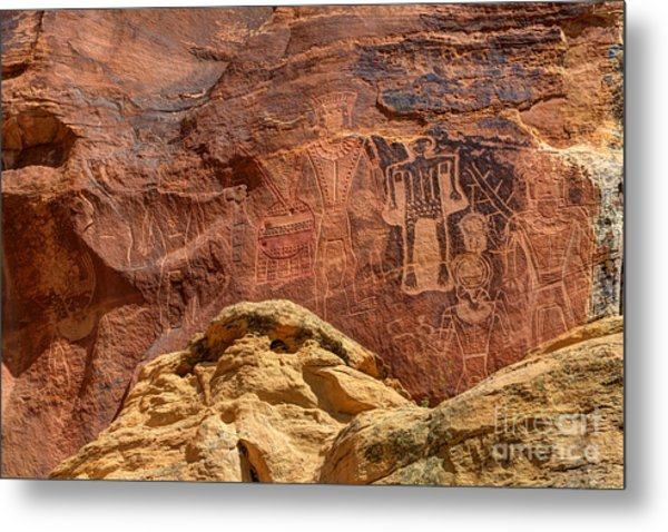 Three Kings Petroglyph - Mcconkie Ranch - Utah Metal Print