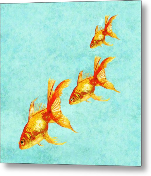 Three Little Fishes Metal Print