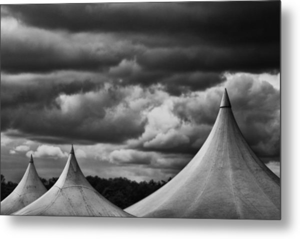 Metal Print featuring the photograph Three Peaks by Adrian Pym