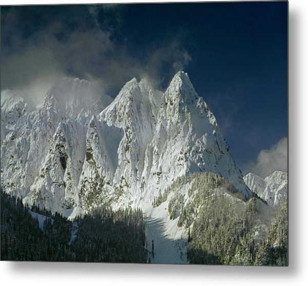 1m4503-three Peaks Of Mt. Index Metal Print