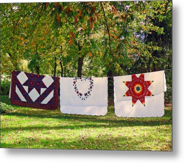 Three Quilts Metal Print