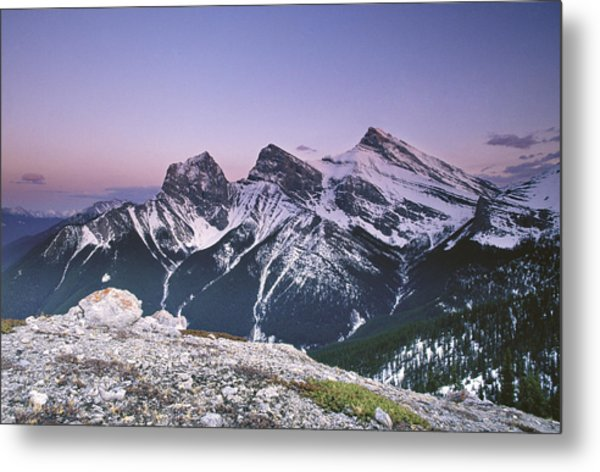 Three Sisters At Twilight Metal Print