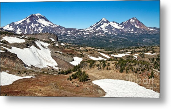 Three Sisters Panorama Metal Print