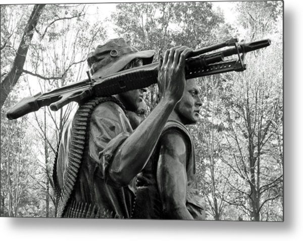 Three Soldiers In Vietnam Metal Print