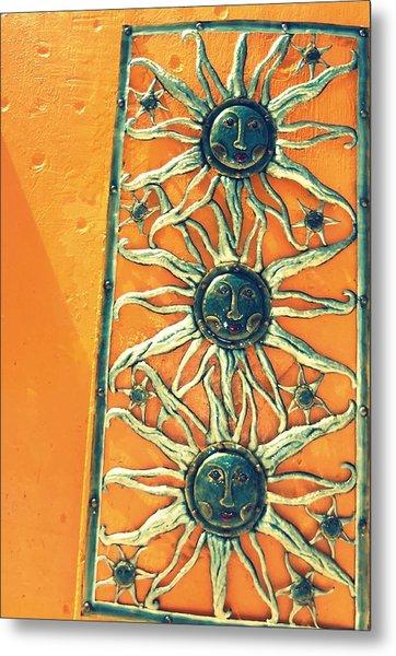 Three Suns Metal Print