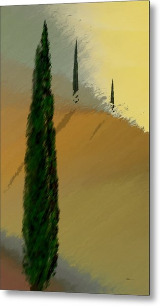 Three Tree Tuscany Metal Print