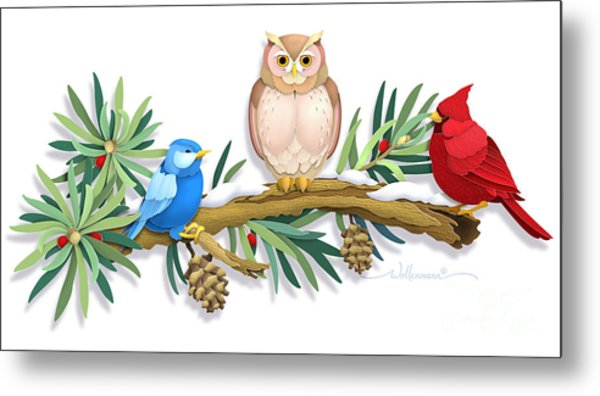 Three Watchful Friends Metal Print