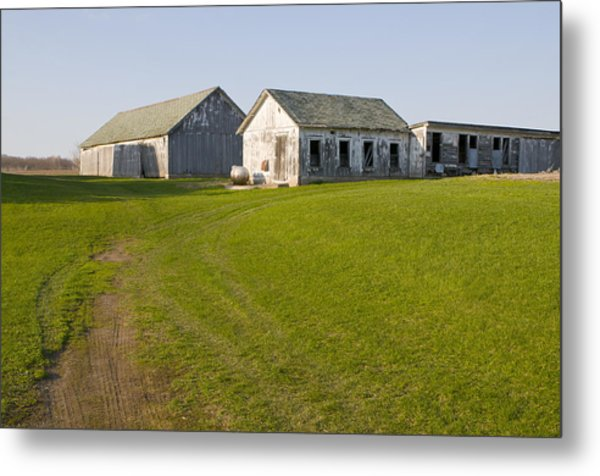 Three Weathered Farm Buildings Metal Print