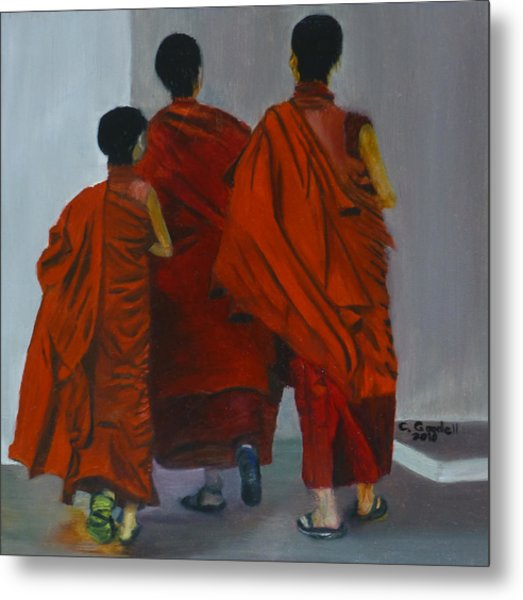 Three Young Monks Metal Print