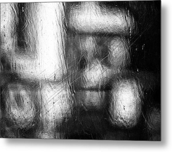 Through The Curtain  Metal Print