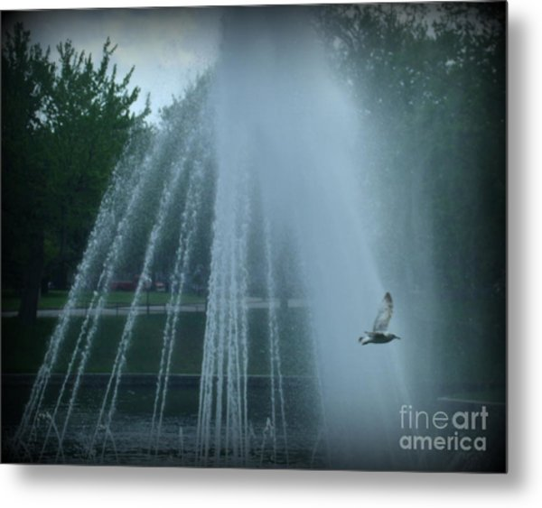 Through The Mist Metal Print by Christy Beal