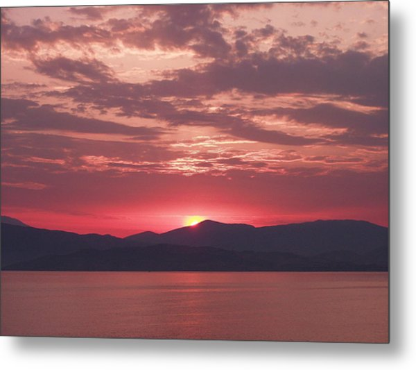 Through The Pink Haze Metal Print