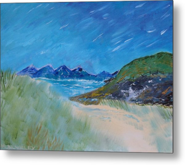 Through The Sand Dunes Metal Print