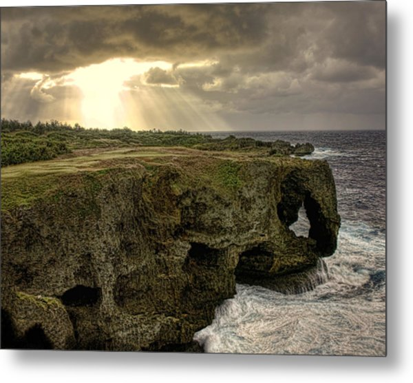Through The Storm Metal Print by Karen Walzer