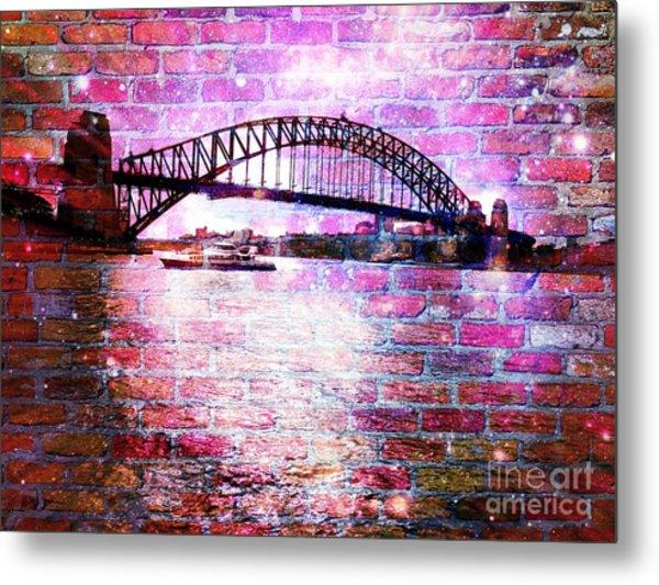 Sydney Harbour Through The Wall 1 Metal Print