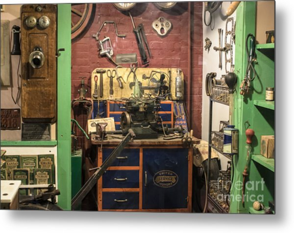 Garage Of Yesteryear Metal Print