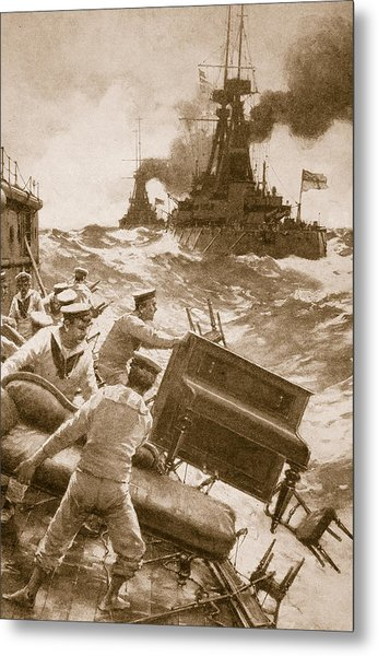 Throwing Overboard All Inflammable Luxuries When A Battleship Is Cleared For Action Metal Print