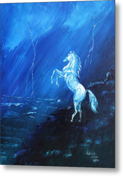 Thunder And Lightning Metal Print